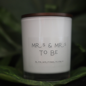 Personalised Engagement Candle – Mrs & Mrs, Mr & Mr, Mr & Mrs to Be