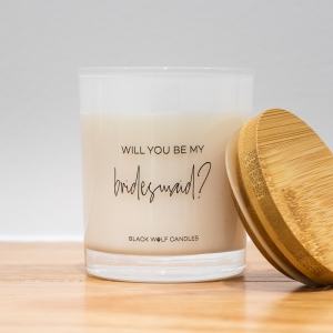 Quote Candle – Will You Be My Bridesmaid