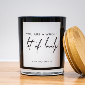 Quote Candle – You Are A Whole Lot Of Lovely